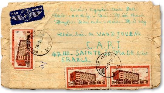 lettre du vietnam a Ali Vandjour