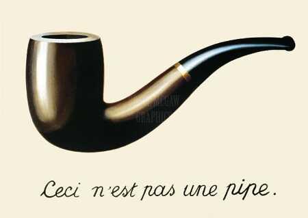 magritte Ceci n'est pas une pipe.
